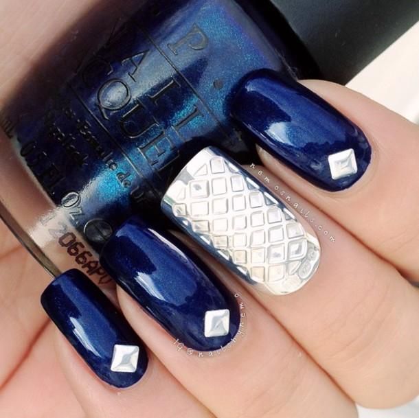 jewels, silver nails, nails, metallic nails, jewelry, jewelry, nail ...