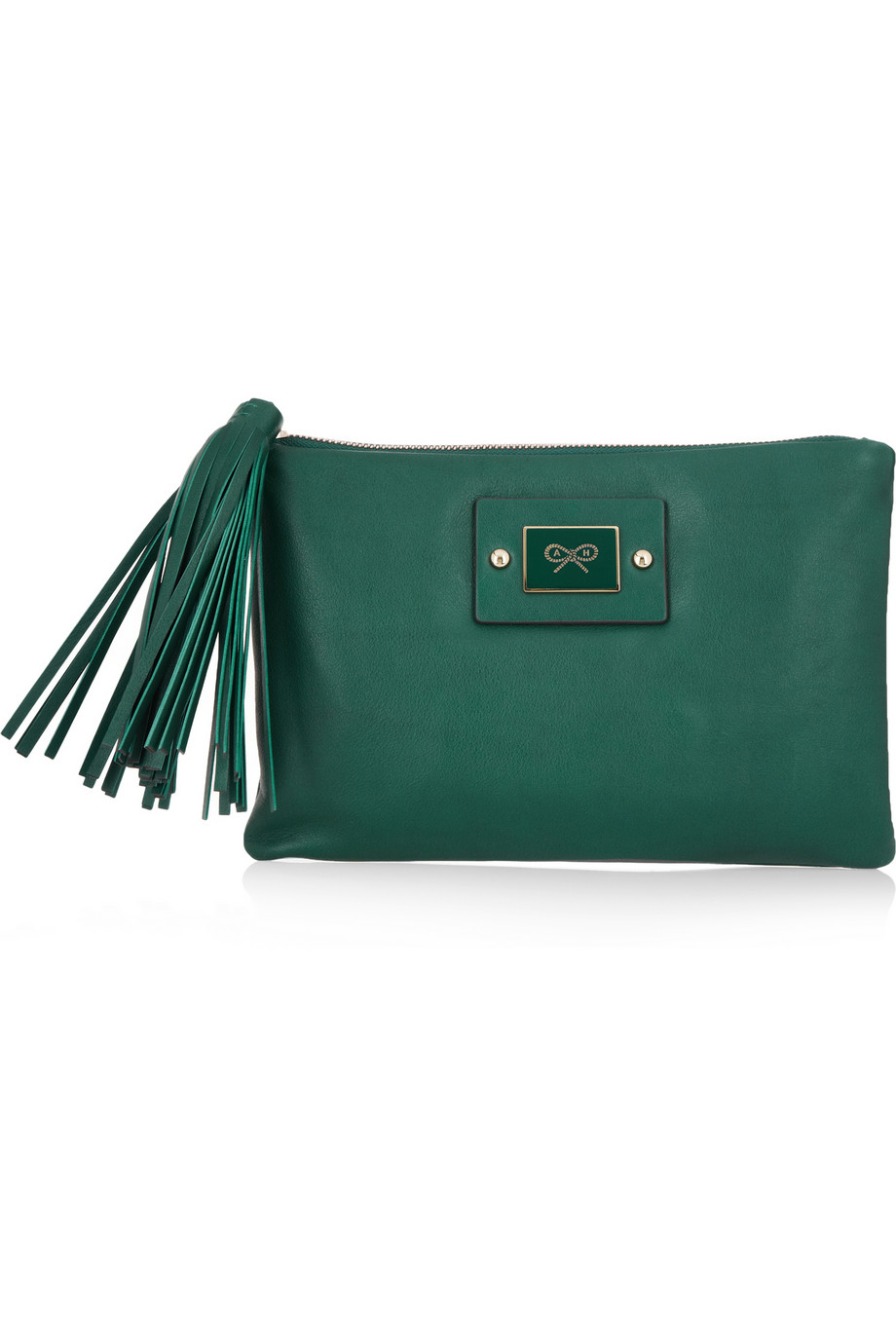 Faithful leather clutch | Anya Hindmarch | 60% off | THE OUTNET