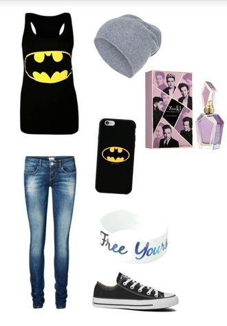 jeans top jewels batman