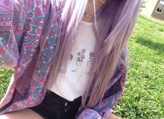 coat grunge pale hipster hippie purple motifs bomber jacket