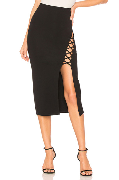Privacy Please skirt black