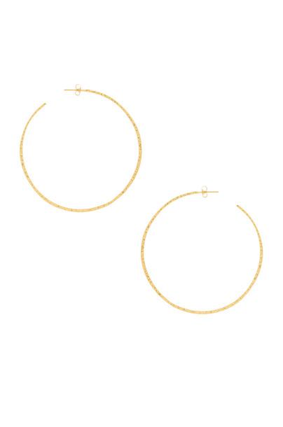 gorjana Taner XL Hoop Earrings in gold / metallic