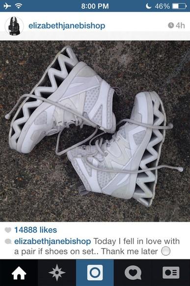 shoes white platform shoes elizabethjanebishop cutout shoes zigzag grunge shoes grunge tumblr shoes