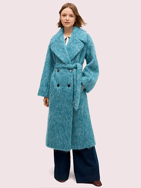 long-haired wool coat