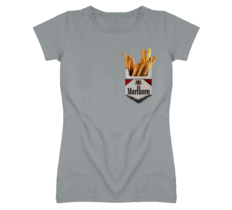 Cigarettes Pack Smoke French Fries Addiction Graphic T Shirt