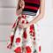 Striped tank top and high waist skirt twinset