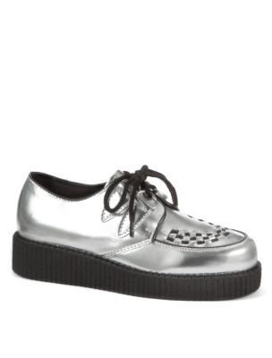 Silver Metallic Brothel Creepers