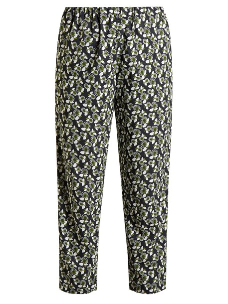 MARNI cropped floral print green pants