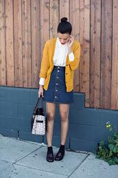 style me grasie,blogger,top,skirt,cardigan,bag,socks,shoes