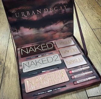 make-up makeup palette urban decay cosmetics face makeup eye shadow naked natural makeup look naked pallet basic naked naked 1 naked 2 naked 3 lipstick pencils