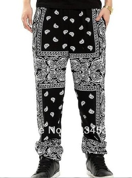Allover Paisley Bandana KTZ Kpop GDragon Kanye West CHURCH Printed TOTEM Hip Pop pants-in Men from Apparel & Accessories on Aliexpress.com