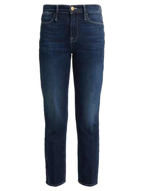 jeans high dark blue dark blue