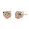 Diamond panther stud earrings