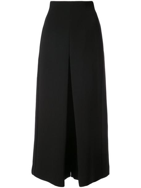 culottes high waisted high women black pants