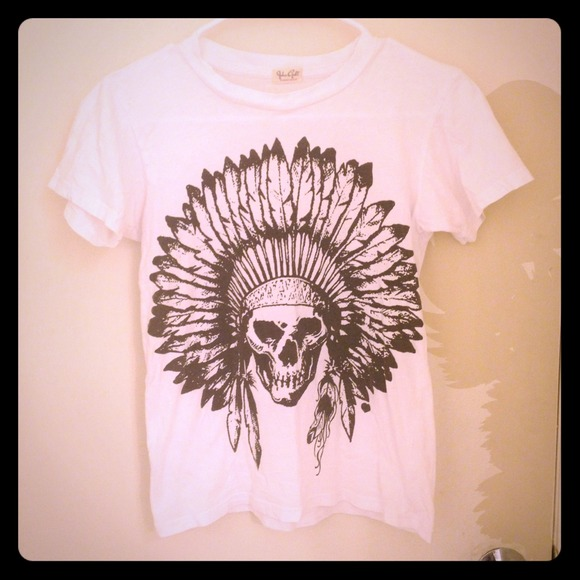 68% off brandy melville Tops - Brandy Melville Indian headdress tee shirt from Sandi's closet on Poshmark
