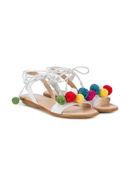 Aquazzura Mini mini sandals leather white shoes