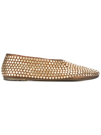 studded women shoes leather