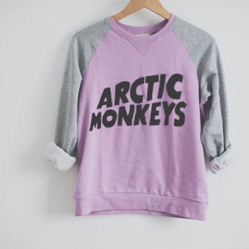 HANDPAINTED Arctic Monkeys logo sweater on Wanelo