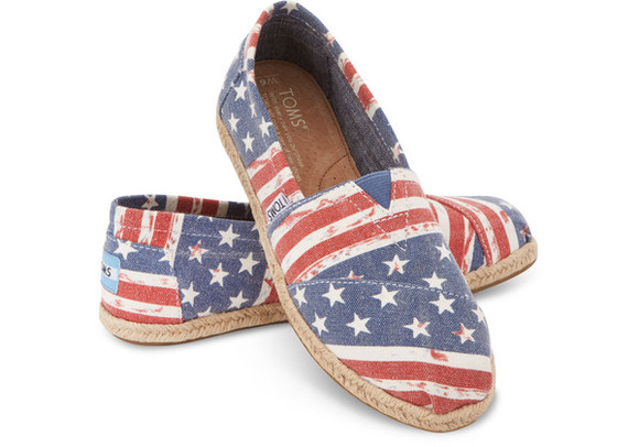 shoes toms july 4th american flag