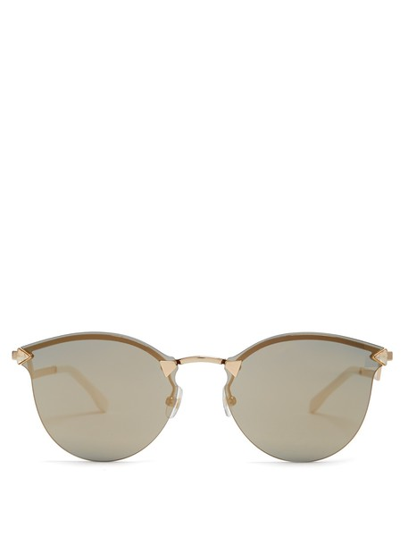 Fendi sunglasses mirrored sunglasses gold