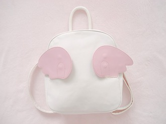 bag pink angel cute backpack kawaii accessory