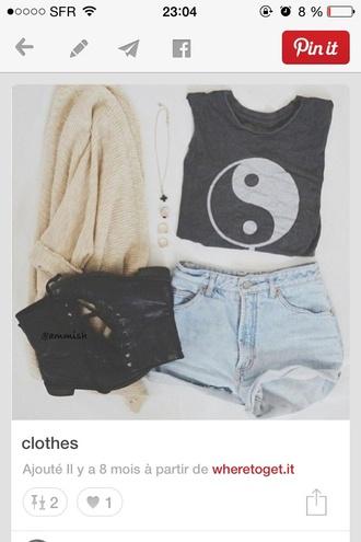 shirt hipster yin yang