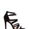 Top rung faux nubuck strappy heels nude black - gojane.com