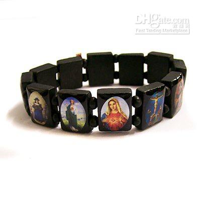 Wholesale 12 pieces/lot Wooden Jesus Holy Saints Christ Christian Religious Catholic Bracelets, Free Shipping, Free shipping, $0.86/Piece | DHgate Mobile