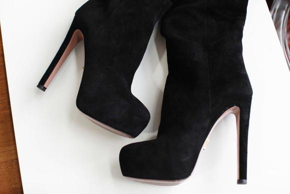 suede boots prada black suede boots black suede high heel boots high heel boots platform high heels platform boots black suede high heels