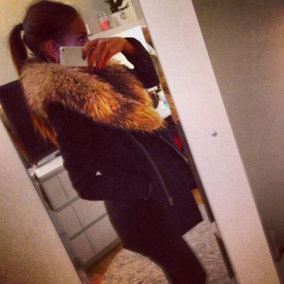 fur jacket beautiful christina kovac blogger winter jacket