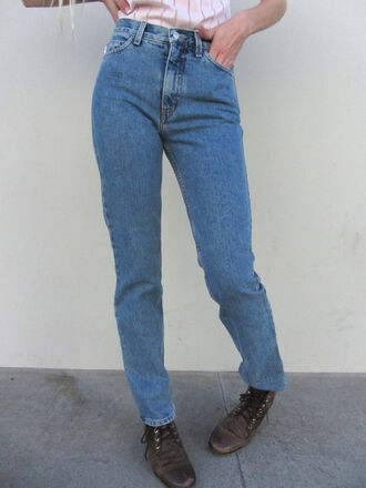 pants vintage clothes jeans guess 80s style 1980's blue jeans perfect fit sexy pants booty