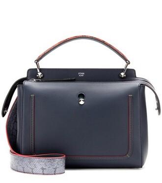 embellished bag shoulder bag leather blue
