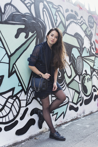blaastyle blogger all black everything black leather bag derbies black jacket