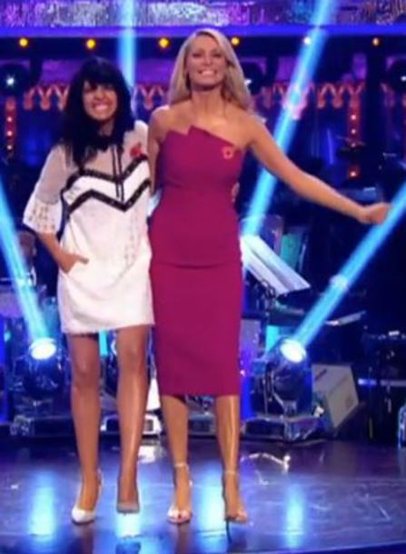 dress strictly claudia winkleman white mini dress lace dress