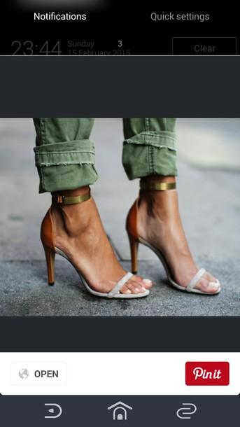 shoes sandal heels orange nude sandals