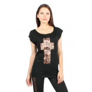 Shirt croix léopard