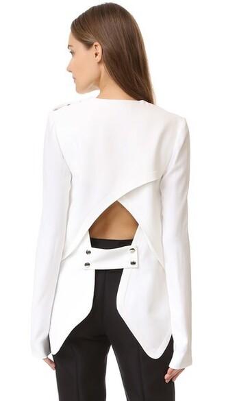 blouse long white top