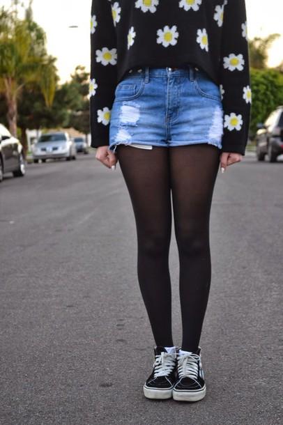 sweater black sweats nike daisy