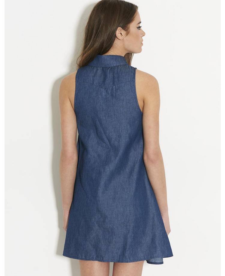 Glamorous Chambray Swing Dress | BANK Fashion