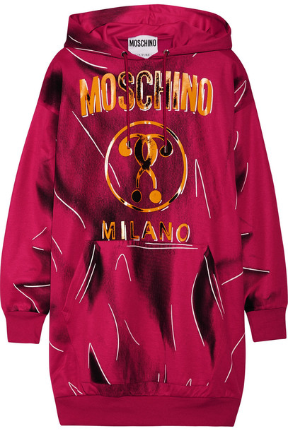Moschino sweatshirt oversized magenta sweater
