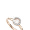 Monica vinader rose quartz naida ring