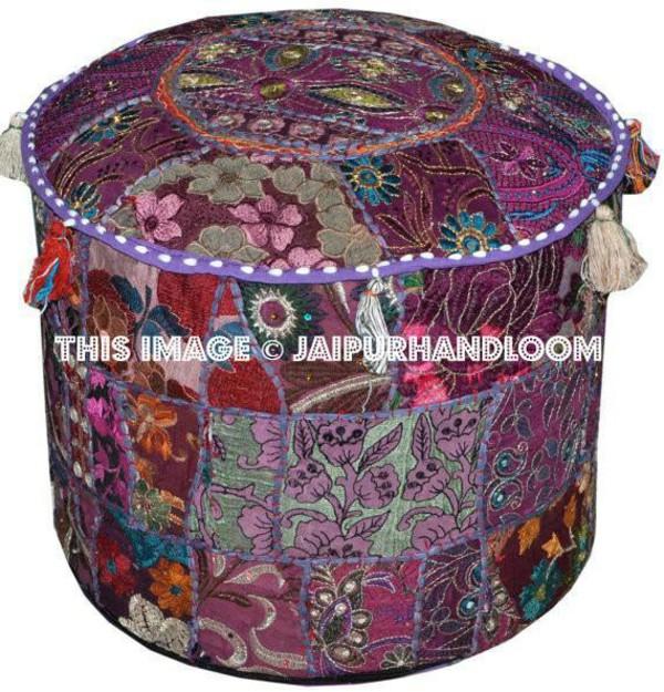 home accessory pouf indian ottoman patchwork poufs