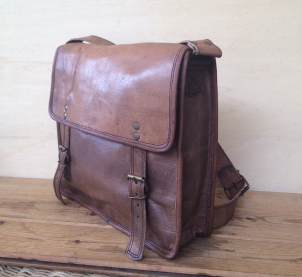 2d7ab2badcc53 bag school bag leather bag mens crossbody bag brown leather bag brown bag  mens messenger bag