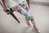 jeans,i like this clother so much,pants,floral,flowers,pastel,vintage,girly,pink,green,colorful,outfit,idea,cute,leggings,white,jeggings,cuute,flowerpower,hair,blue,tumblr shirt,tumblr outfit,spring outfits,spring,trendy,roses