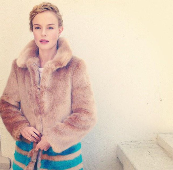 coat fur fur coat kate bosworth