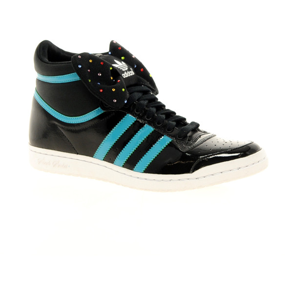 Adidas Top Ten Hi Sleek Bow Black Sneakers - Polyvore