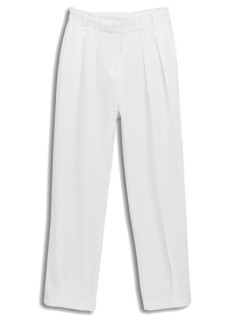 White loose straight pants