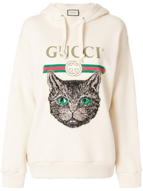 gucci hoodie women nude cotton sweater