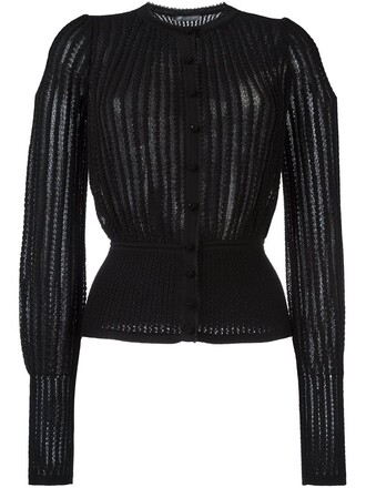 cardigan metallic women spandex black silk wool sweater