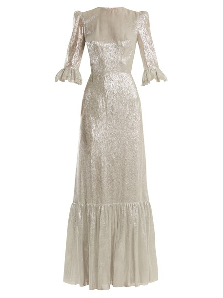 THE VAMPIRE'S WIFE gown silk silver dress